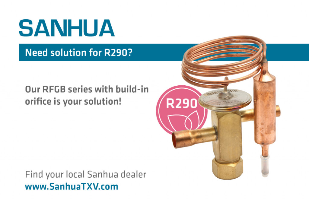 RFGB06 thermostatic expansion valve with fixed orifices ready for propane - R290