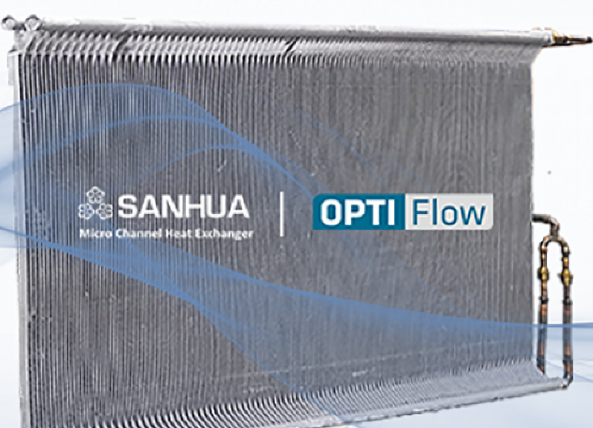 OPTIFlow Microchannel Heat Exchanger - 13% higher heat transfer efficiency